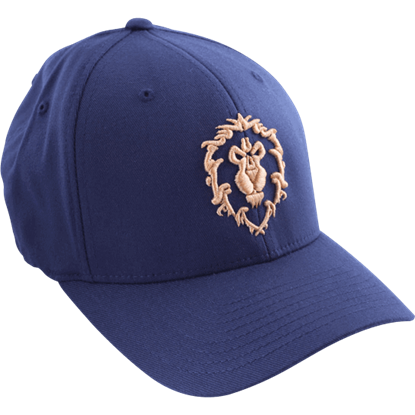 Beige and Navy World of Warcraft Alliance Cap