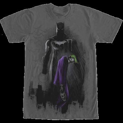 Batman and Joker Graffiti Print T-Shirt