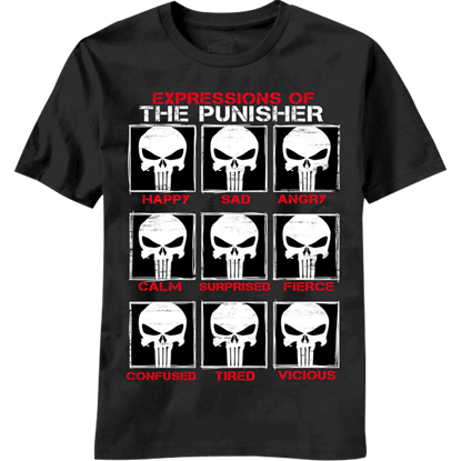 Expressions of the Punisher T-Shirt
