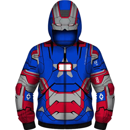 Junior Iron Patriot Suit Hoodie