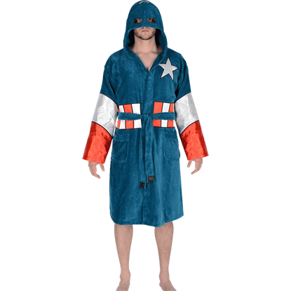 Marvel Hooded Captain America Robe