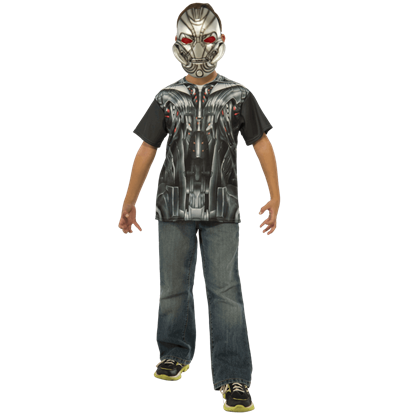 Kids Avengers 2 Ultron Costume Top and Mask Set