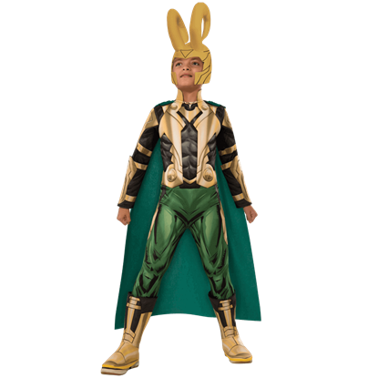 Kids Deluxe Loki Muscle Costume