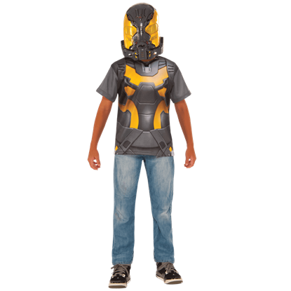 Kids Yellowjacket Costume Top and Mask