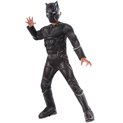 Kids Marvel Civil War Deluxe Black Panther Costume