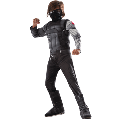 Kids Marvel Civil War Deluxe Winter Soldier Costume