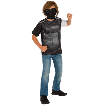 Kids Winter Soldier Costume Top and Mask Set