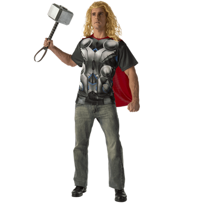 Adult Avengers 2 Thor Costume Top and Cape