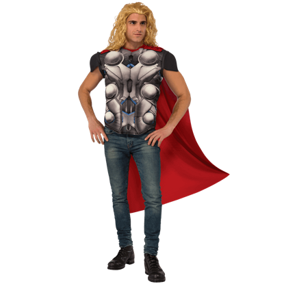 Adult Avengers 2 Deluxe Thor Costume Top and Cape