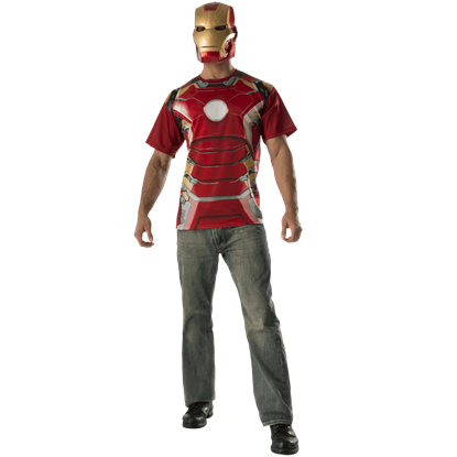 Adult Avengers 2 Iron Man Costume Top and Mask Set