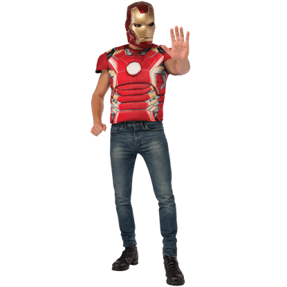 Adult Avengers 2 Deluxe Iron Man Costume Top and Mask Set