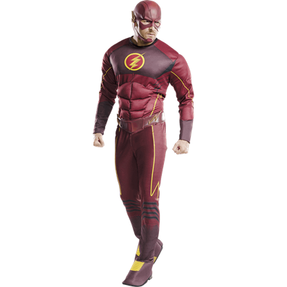 Mens Deluxe Flash Costume