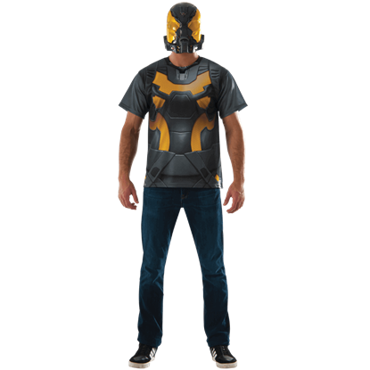 Adult Yellowjacket Costume Top and Mask