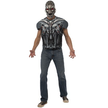 Adult Avengers 2 Deluxe Ultron Costume Top and Mask Set