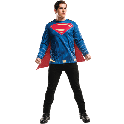 Adult Dawn of Justice Superman Costume Top