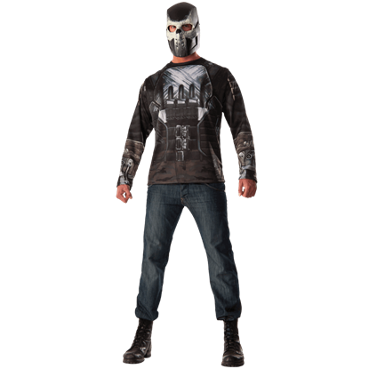 Adult Crossbones Costume Top and Mask