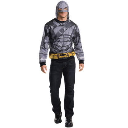 Adult Armoured Batman Costume Hoodie