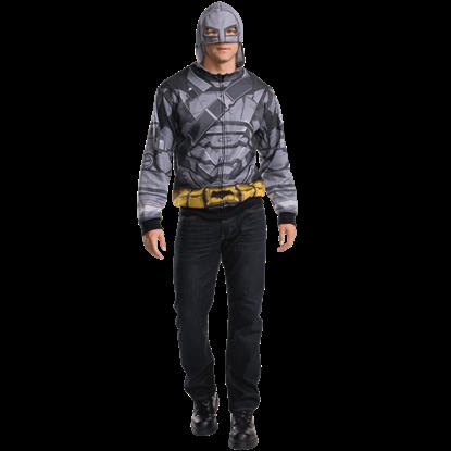 Adult Armoured Batman Costume Hoodie