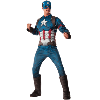 Adult Civil War Deluxe Captain America Costume