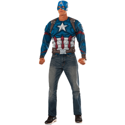 Adult Civil War Deluxe Captain America Costume Set