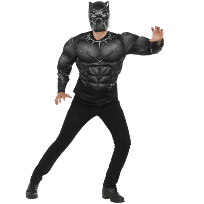 Adult Deluxe Black Panther Costume Top and Mask