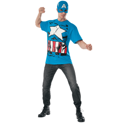Adult Captain America Costume Top and Mask