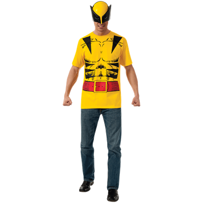 Adult Wolverine Costume Top and Mask