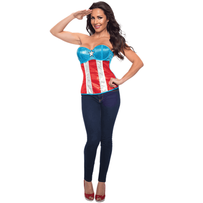 Adult American Dream Sequin Corset