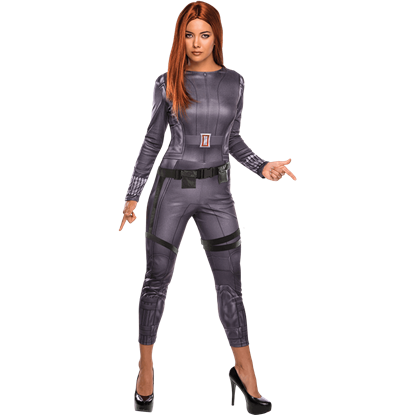 Adult Black Widow Jumpsuit Costume