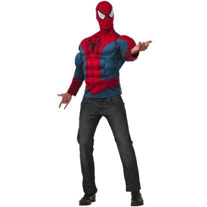 Adult Deluxe Spider-Man Long Sleeve Costume Set