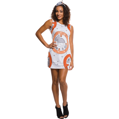 Adult BB-8 Rhinestone Tank Dress