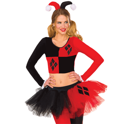Adult Harley Quinn Crop Top