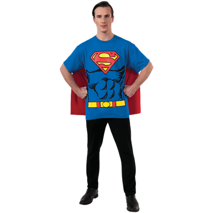 Adult Superman Cape T-Shirt