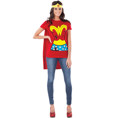Adult Wonder Woman T-Shirt Costume