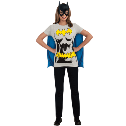 Adult Batgirl Cape T-Shirt With Mask