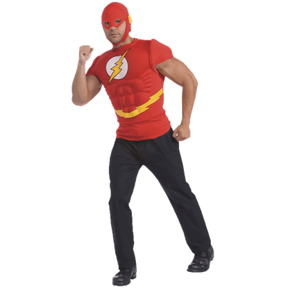 Adult Flash Muscle Chest Shirt Costume