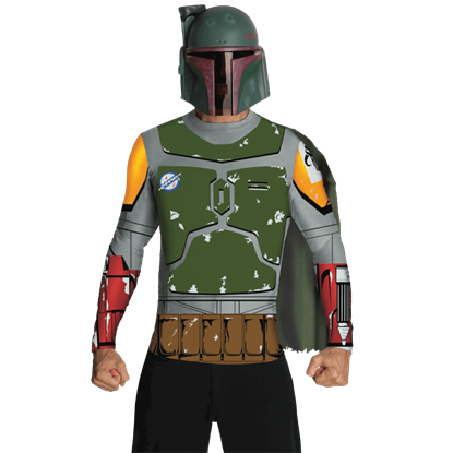 Adult Boba Fett Costume Top with Mask