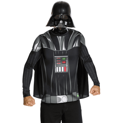 Adult Darth Vader Costume Top with Mask