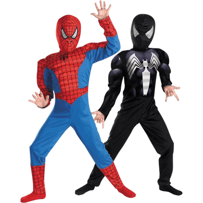 Kids Reversible Ultimate Spider-Man Muscle Costume
