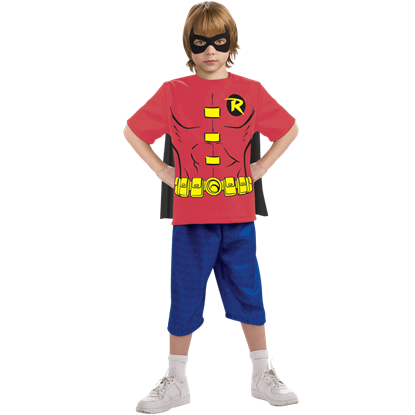 Kids Robin Cape T-Shirt With Mask