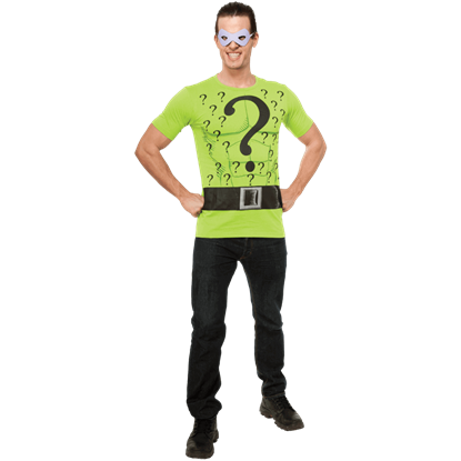 Adult Riddler T-Shirt With Mask