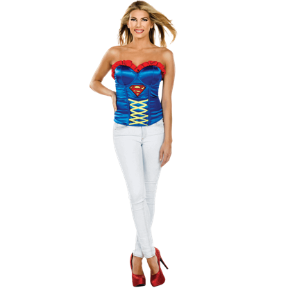 Adult Supergirl Costume Corset