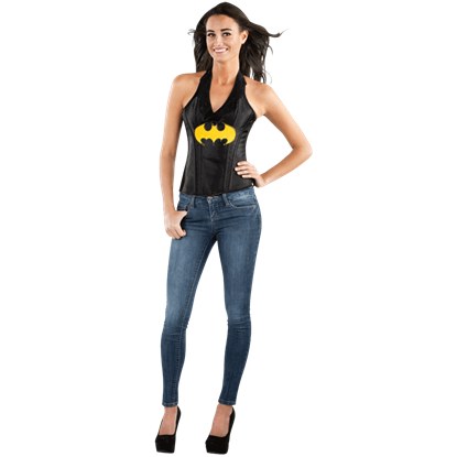 Adult Batgirl Faux Leather Corset