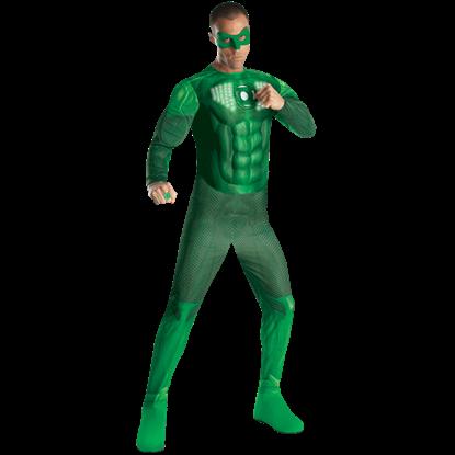 Adult Hal Jordan Light-Up Deluxe Costume