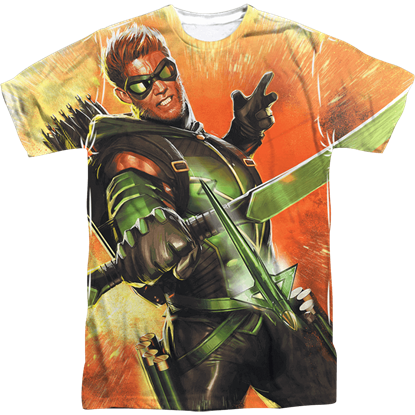 Archer in Action Green Arrow T-Shirt