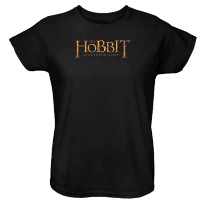 Black Hobbit Logo Womens T-Shirt