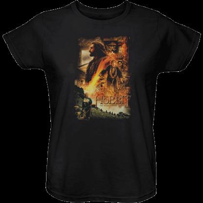 Golden Chambers Hobbit Womens T-Shirt