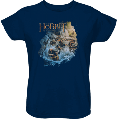 Barreling Down Hobbit Womens T-Shirt