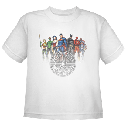 Kids New 52 Justice League Crest T-Shirt