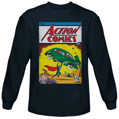 Action Comics Issue 1 Long Sleeved T-Shirt